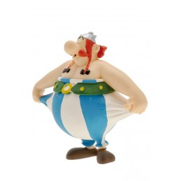 ASTERIX - OBELIX STRETCHING PANTS PVC FIGURE MINI STATUE PLASTOY