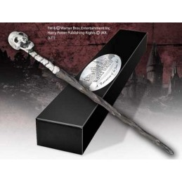 NOBLE COLLECTIONS HARRY POTTER WAND DEATH EATER SKULL REPLICA BACCHETTA