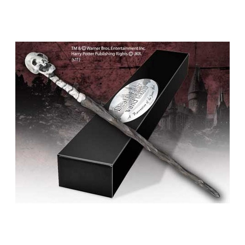 HARRY POTTER WAND DEATH EATER SKULL REPLICA BACCHETTA NOBLE COLLECTIONS
