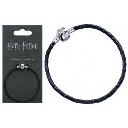 HARRY POTTER - BLACK LEATHER CHARM BRACELET BRACCIALETTO
