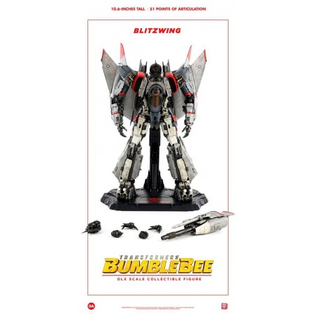 TRANSFORMERS BUMBLEBEE MOVIE BLITZWING DLX SCALE COLLECTIBLE ACTION FIGURE 27CM