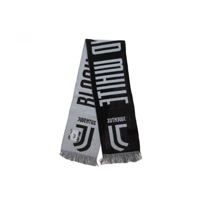 SCIARPA SCARF JUVENTUS UFFICIALE BLACK AND WHITE