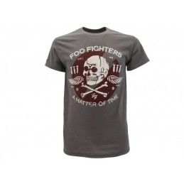MAGLIA T SHIRT FOO FIGHTERS A MATTER OF TIME GRIGIA SCURA