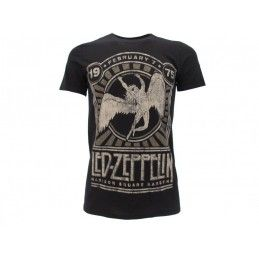 MAGLIA T SHIRT LED ZEPPELIN MADISON SQUARE GARDEN 1975 NERA