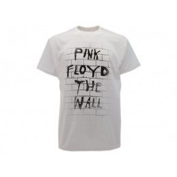 MAGLIA T SHIRT PINK FLOYD THE WALL BIANCA