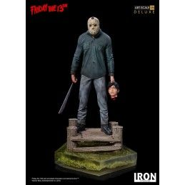 FRIDAY THE 13TH - JASON ART SCALE 1/10 DELUXE RESIN STATUE 23CM IRON STUDIOS