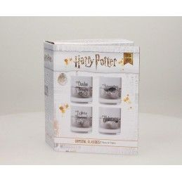 SD TOYS HARRY POTTER CHARMS CRYSTAL GLASSES SET - 4 BICCHIERI IN CRISTALLO