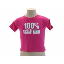 MAGLIA T SHIRT UMORISTICHE 100% COCCA DI MAMMA FUCSIA