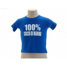 MAGLIA T SHIRT UMORISTICHE 100 % COCCO DI MAMMA BLU ROYAL