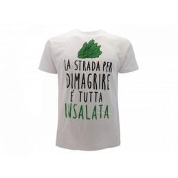 MAGLIA T SHIRT SOLO PAROLE LA STRADA PER DIMAGRIRE BIANCA