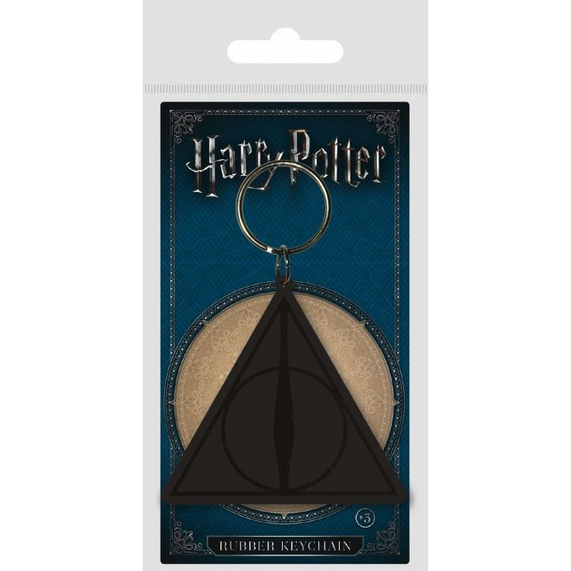 HARRY POTTER THE DEATHLY HALLOWS RUBBER KEYCHAIN PORTACHIAVI IN GOMMA