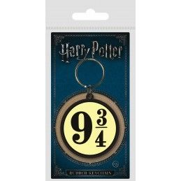 HARRY POTTER PLATFORM 9 3/4 RUBBER KEYCHAIN PORTACHIAVI IN GOMMA