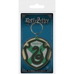 HARRY POTTER SLYTHERIN CREST RUBBER KEYCHAIN PORTACHIAVI IN GOMMA