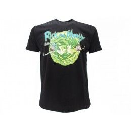 MAGLIA T SHIRT RICK AND MORTY PORTALE