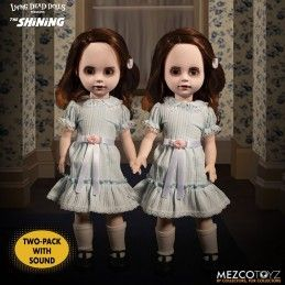LIVING DEAD DOLLS LDD SHINING TALKING GRADY TWINS ACTION FIGURE MEZCO TOYS