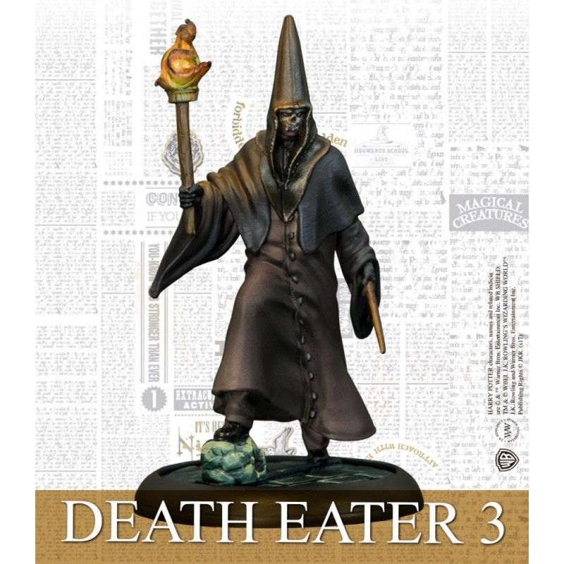HARRY POTTER MINIATURE ADVENTURE GAME - BARTY CROUCH JR AND DEATH EATERS KNIGHT MODELS