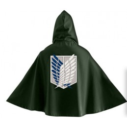 ATTACCO DEI GIGANTI ATTACK ON TITAN OFFICIAL GREEN CAPE MANTELLO RICOGNITIVA