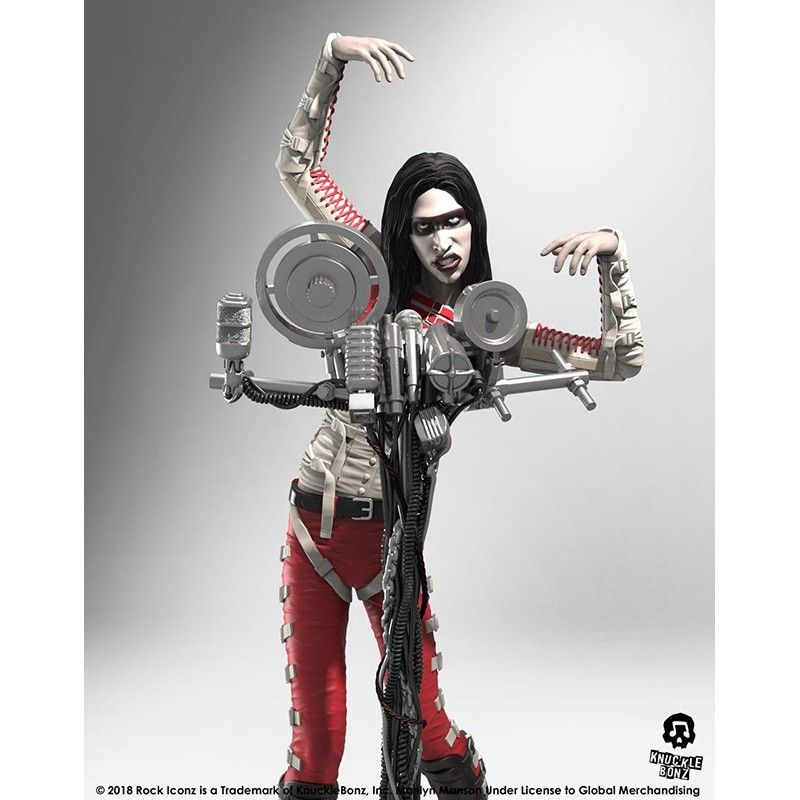KNUCKLEBONZ ROCK ICONZ - MARILYN MANSON STATUE FIGURE