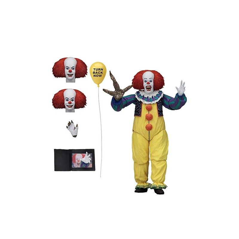 "7 /""NECA TI Pennywise Clown 1990 De Stephen King IT Action Figure Ultime 1:12"