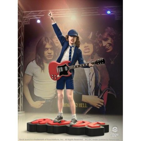 ROCK ICONZ - AC/DC ANGUS YOUNG STATUE FIGURE