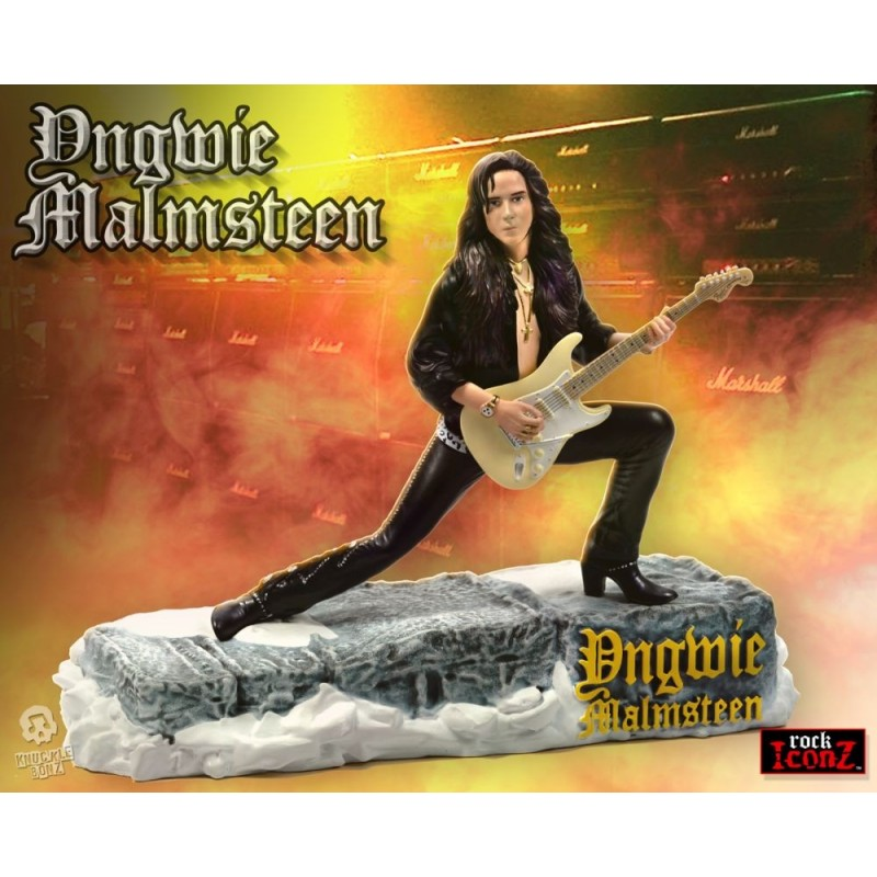 ROCK ICONZ - YNGWIE MALMSTEEN STATUE FIGURE KNUCKLEBONZ