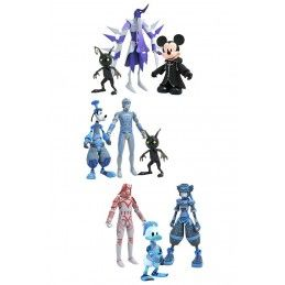 KINGDOM HEARTS SERIES 3 DIAMOND SELECT SET ACTION FIGURE