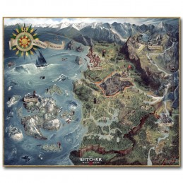 THE WITCHER 3 WILD HUNT NORTHERN REALMS MAP 1000 PIECES PEZZI 50X67CM