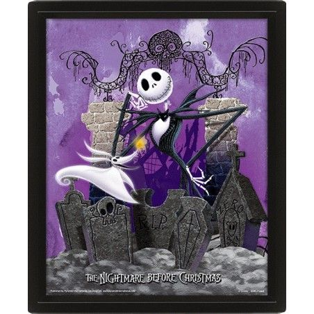 THE NIGHTMARE BEFORE CHRISTMAS LENTICULAR 3D POSTER 25X20CM