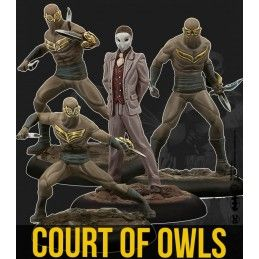 BATMAN MINIATURE GAME - THE COURT OF OWLS CREW MINI RESIN STATUE FIGURE