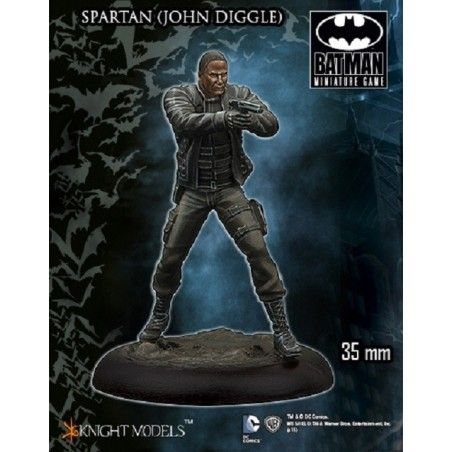 BATMAN MINIATURE GAME -  SPARTAN (JOHN DIGGLE) MINI RESIN STATUE FIGURE