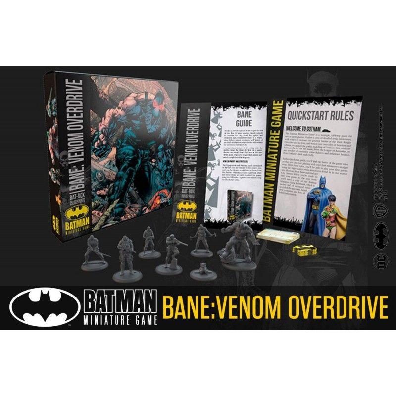 BATMAN MINIATURE GAME BANE VENOM OVERDRIVE BAT BOX MINI RESIN STATUE FIGURE