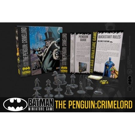 BATMAN MINIATURE GAME THE PENGUIN CRIMELORD BAT BOX MINI RESIN STATUE FIGURE