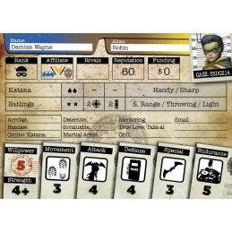 BATMAN MINIATURE GAME - ROBIN AND GOLIATH MINI RESIN STATUE FIGURE
