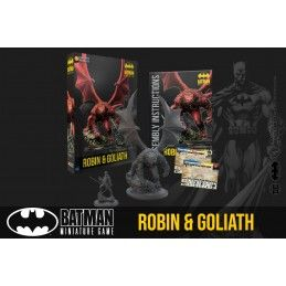 BATMAN MINIATURE GAME - ROBIN AND GOLIATH MINI RESIN STATUE FIGURE