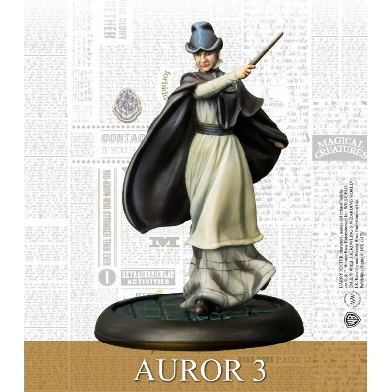 HARRY POTTER MINIATURE ADVENTURE GAME - BARTY CROUCH SR AND AURORS KNIGHT MODELS