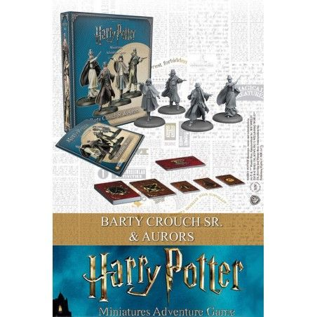 HARRY POTTER MINIATURE ADVENTURE GAME - BARTY CROUCH SR AND AURORS