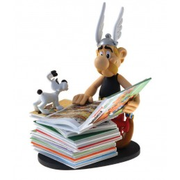 ASTERIX PILE OF COMICS 2ND EDITION RESIN FIGURE 23CM STATUE PLASTOY