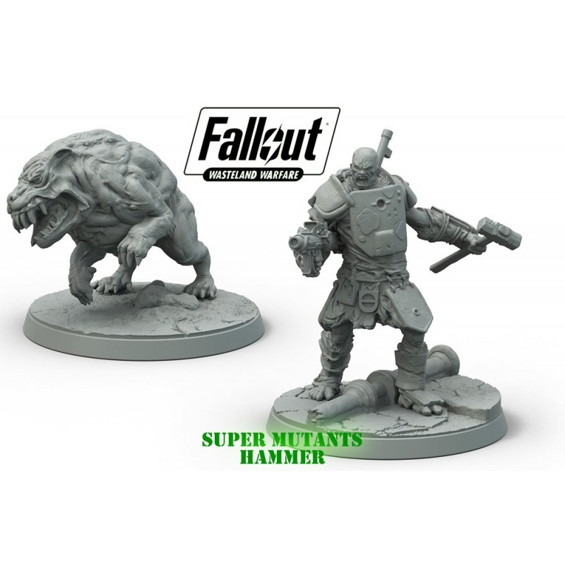 FALLOUT WASTELAND WARFARE SUPER MUTANTS HAMMER SET MINIATURE MODIPHIUS ENTERTAINMENT