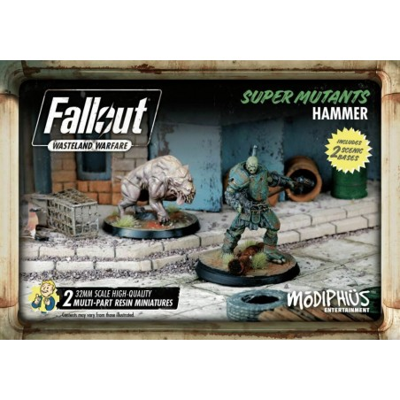 FALLOUT WASTELAND WARFARE SUPER MUTANTS HAMMER SET MINIATURE