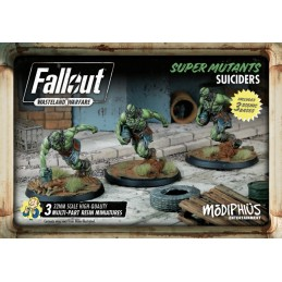 MODIPHIUS ENTERTAINMENT FALLOUT WASTELAND WARFARE SUPER MUTANTS SUICIDERS SET MINIATURE