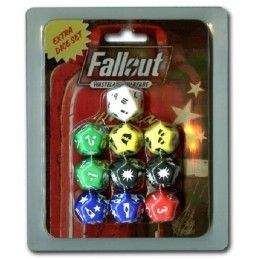 FALLOUT WASTELAND WARFARE - EXTRA DICE SET MODIPHIUS ENTERTAINMENT