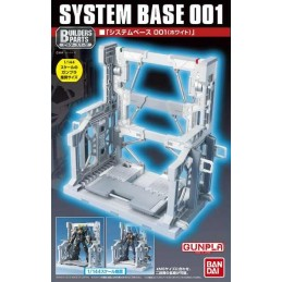 SYSTEM BASE 001 WHITE MODEL KIT BANDAI