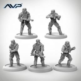 Prodos Games Alien VS Predator Captain Englisch AVP USCM Officer Set Unicast