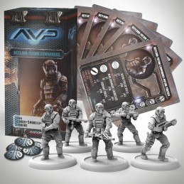 AVP THE HUNT BEGINS - WEYLAND YUTANI COMMANDOS SET EXPANSION FIGURE