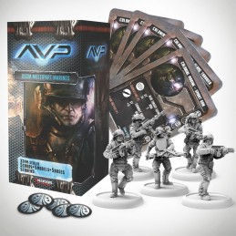 AVP THE HUNT BEGINS - USCM MULTIPART MARINES SET EXPANSION FIGURE