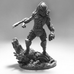 AVP THE HUNT BEGINS - PREDATOR JUNGLE HUNTER STATUE RESIN 15CM FIGURE