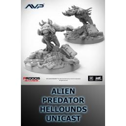 AVP THE HUNT BEGINS - PREDATOR HELLHOUNDS UNICAST SET EXPANSION FIGURE