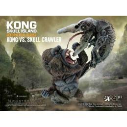 KONG SKULL ISLAND DEFORM REAL SERIES KONG VS SKULL CRAWLER STATUE FIGURE