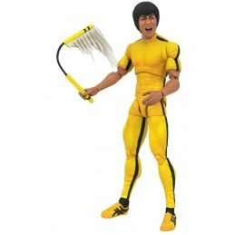 DIAMOND SELECT BRUCE LEE SELECT - GAME OF DEATH YELLOW JUMPSUIT ACTION FIGURE
