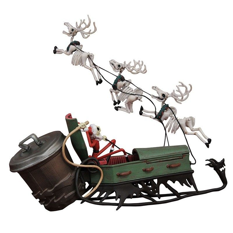 NIGHTMARE BEFORE CHRISTMAS - JACK IN SLEIGH DELUXE SET FIGURE
